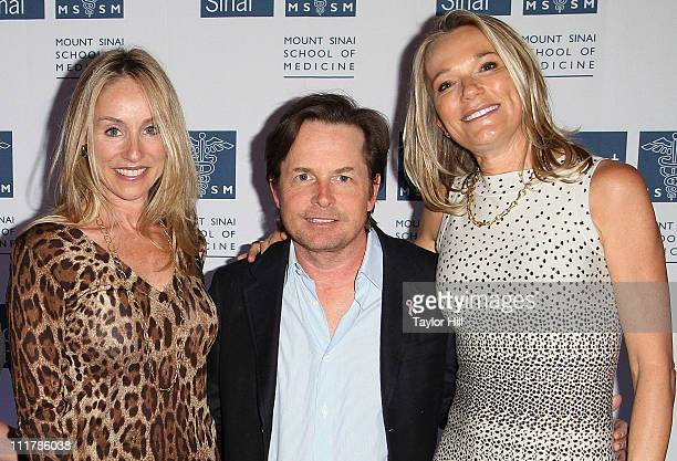 Tracy Pollan actor Michael J Fox and Dr Eva AnderssonDubin attend the opening of Dubin Breast Center at the Tisch Cancer Institute at Mount Sinai...