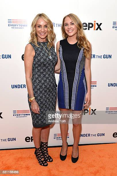 Tracy Pollan and Aquinnah Fox attend the New York premiere of EPIX's 'Under the Gun' on May 12 2016 in New York New York