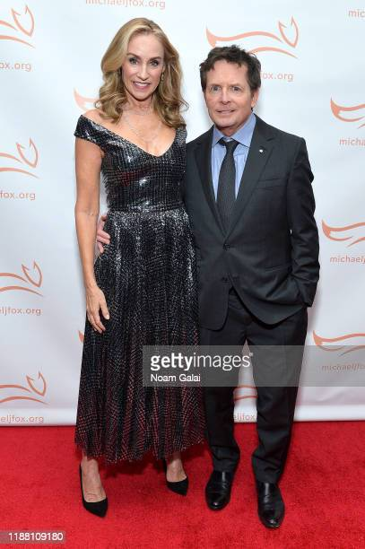 Tracy Pollan and Michael J Fox attend A Funny Thing Happened On The Way To Cure Parkinson's benefitting The Michael J Fox Foundation on November 16...