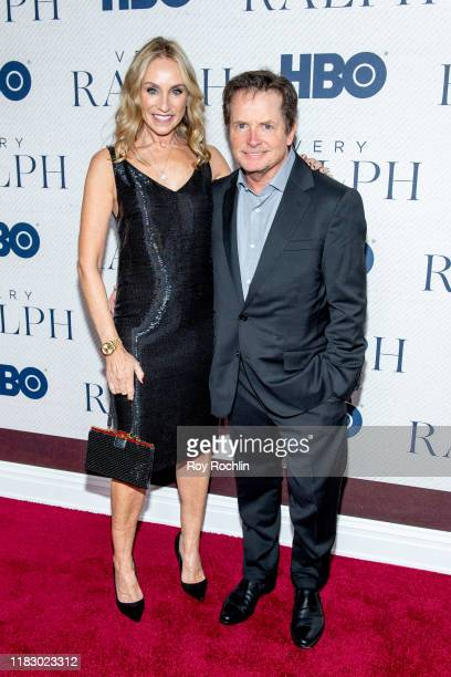 "Tracy Pollan and Michael J. Fox attend HBO's ""Very Ralph"" World Premiere at The Metropolitan Museum of Art on October 23, 2019 in New York City."