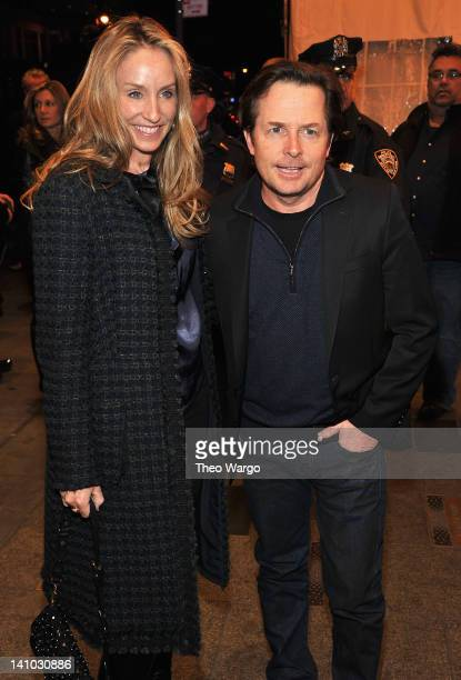 Tracy Pollan and Michael J Fox attend SiriusXM Celebrates 10 Years Of Satellite Radio With A Concert By Bruce Springsteen And The E Street Band at...