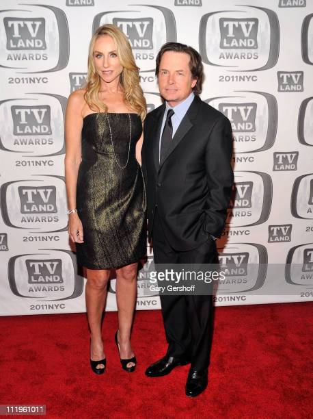 Tracy Pollan and Michael J. Fox attend the 9th Annual TV Land Awards at the Javits Center on April 10, 2011 in New York City.