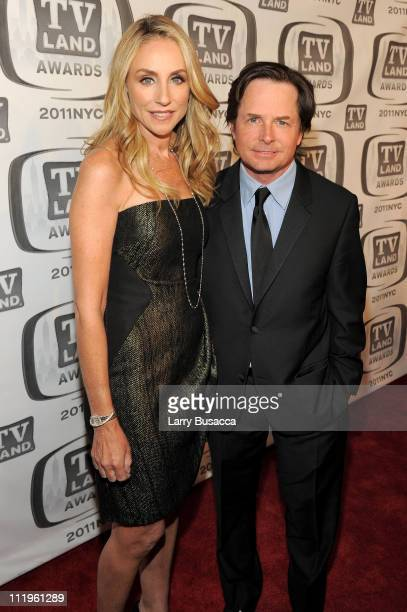 Tracy Pollan and Michael J Fox attend the 9th Annual TV Land Awards at the Javits Center on April 10 2011 in New York City