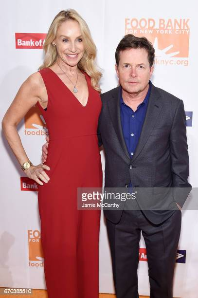 Tracy Pollan and Michael J Fox attend the Food Bank for New York City CanDo Awards Dinner 2017 on April 19 2017 in New York City