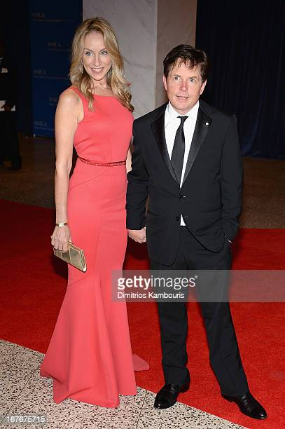 Tracy Pollan and Michael J Fox attend the White House Correspondents' Association Dinner at the Washington Hilton on April 27 2013 in Washington DC
