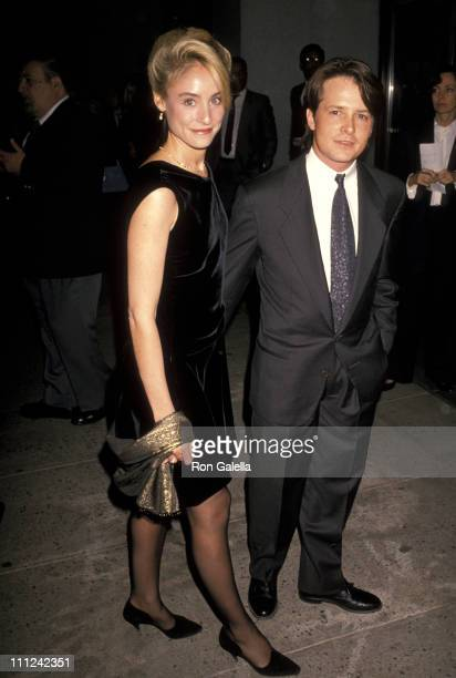 Tracy Pollan and Michael J Fox during Armani Dinner and Screening of Made In Milan at Museum of Modern Art in New York City New York United States