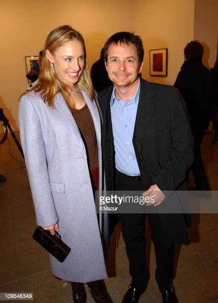 Tracy Pollan and Michael J Fox during Mark Seliger celebrates his book Lenny Kravitz published by Arena Editions with proceeds of the book going to...