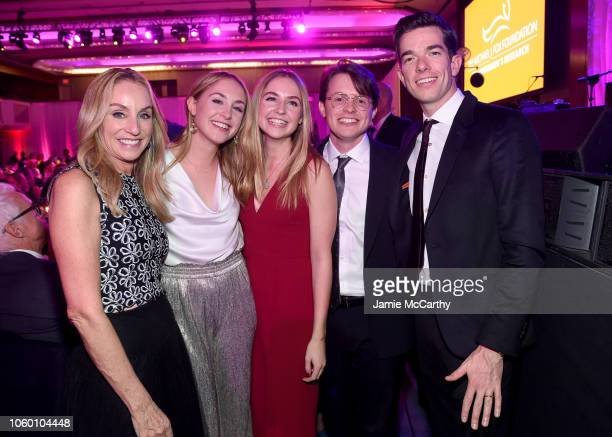 Tracy Pollan Aquinnah Kathleen Fox Schuyler Frances Fox Sam Michael Fox and John Mulaney attend A Funny Thing Happened On The Way To Cure Parkinson's...