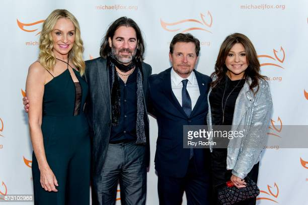 Tracy Pollan John M Cusimano Michael J Fox and Rachael Ray attend the 2017 a funny thing happened on the way to cure Parkinson's benefitting The...