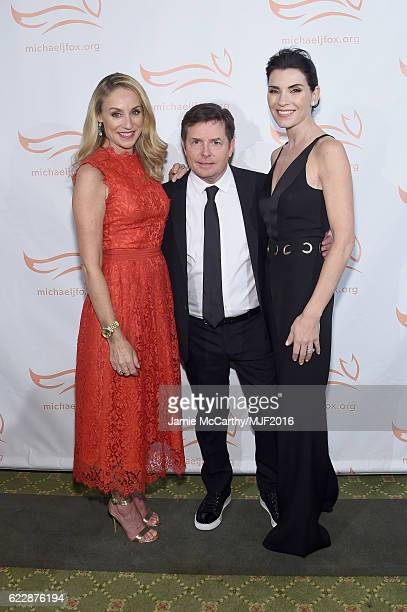 Tracy Pollan, Michael J. Fox, and Julianna Margulies attend Michael J. Fox Foundation's 'A Funny Thing Happened On The Way To Cure Parkinson's' gala...