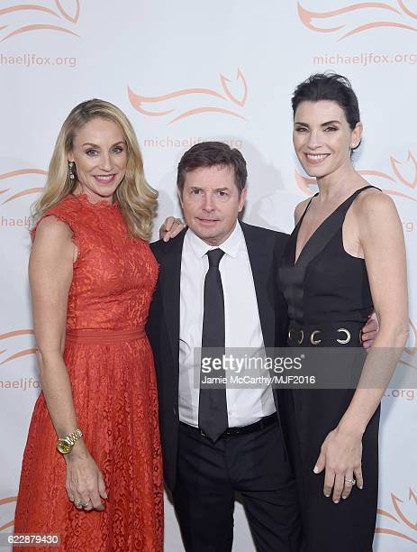 Tracy Pollan Michael J Fox and Julianna Margulies attend Michael J Fox Foundation's 'A Funny Thing Happened On The Way To Cure Parkinson's' gala at...