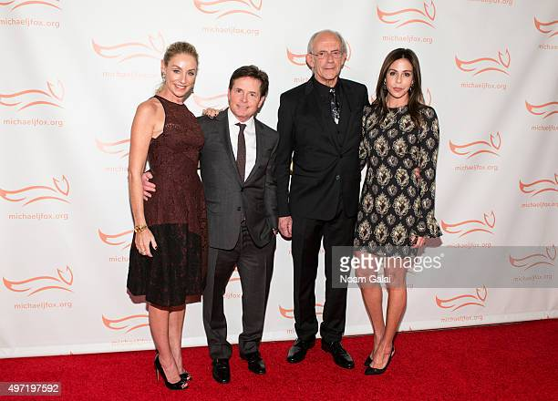 Tracy Pollan Michael J Fox Christopher Lloyd and Lisa Loiacono attend the Michael J Fox Foundation's A Funny Thing Happened On The Way To Cure...
