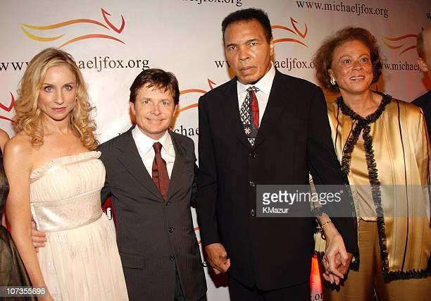 Tracy Pollan, Michael J. Fox, Muhammad Ali and Lonnie Ali