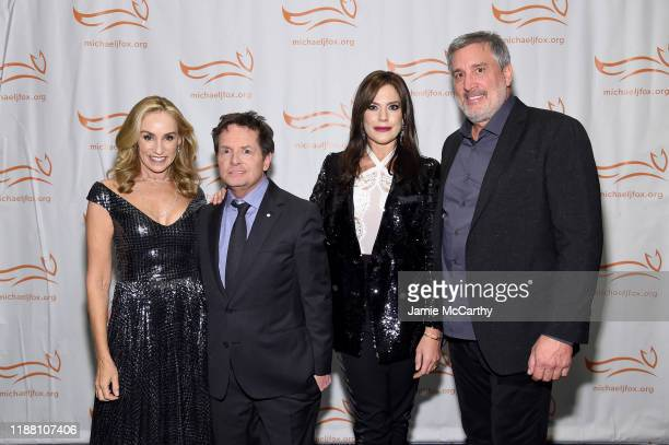 Tracy Pollan Michael J Fox Paulina Neely and Cam Neely attend A Funny Thing Happened On The Way To Cure Parkinson's benefitting The Michael J Fox...
