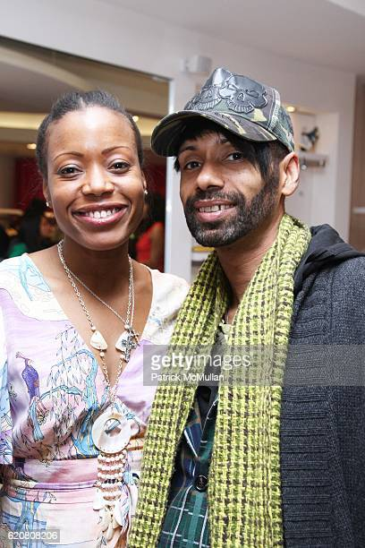 Tracy Reese and Paul Alexander attend TRACY REESE Secret Garden Party at Tracy Reese Boutique on March 27 2008 in New York City
