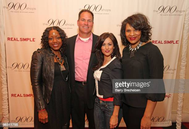 Tracy Reese, Lou Manfredini, Jillian Harris and Julie Wilson attend the Real Simple 10th anniversary kick-off event at The 900 Shops on April 8, 2010...