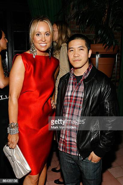 Tracy Smith and Designer Thakoon attends the Playground screening gala at The Bowery Hotel on May 1 2009 in New York City