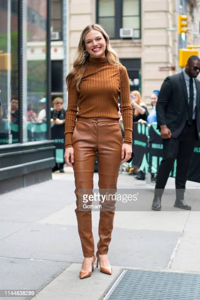 Tracy Spiridakos attenda AOL Build in NoHo on April 23 2019 in New York City