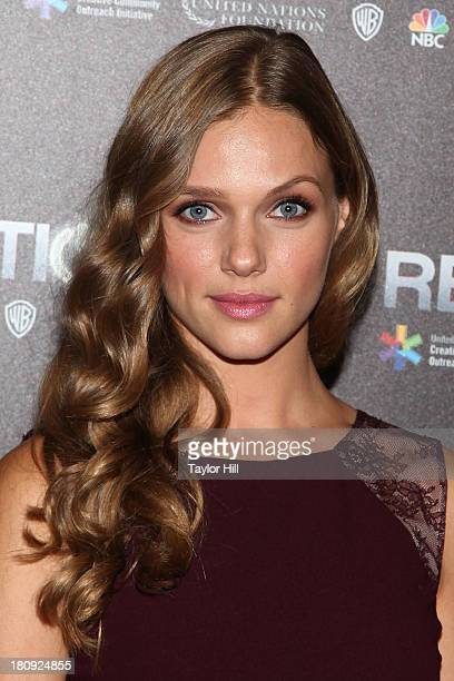 Tracy Spiridakos attends 'Revolution The Power Of Entertainment' at United Nations Headquarters on September 17 2013 in New York City