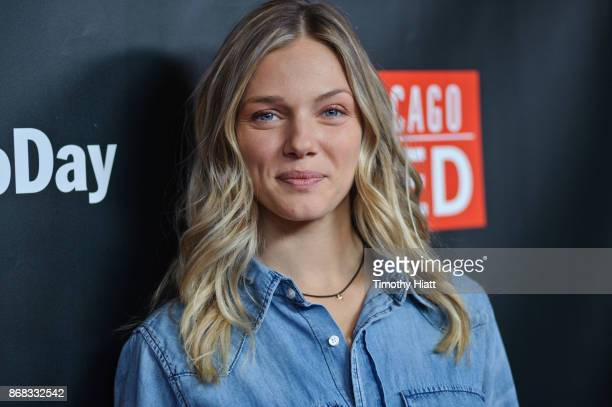 Tracy Spiridakos attends the press junket for 'One Chicago' on October 30 2017 in Chicago Illinois