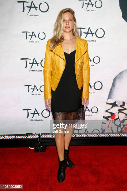 Tracy Spiridakos attends the TAO Chicago Grand Opening Celebration at TAO Chicago on September 15 2018 in Chicago Illinois