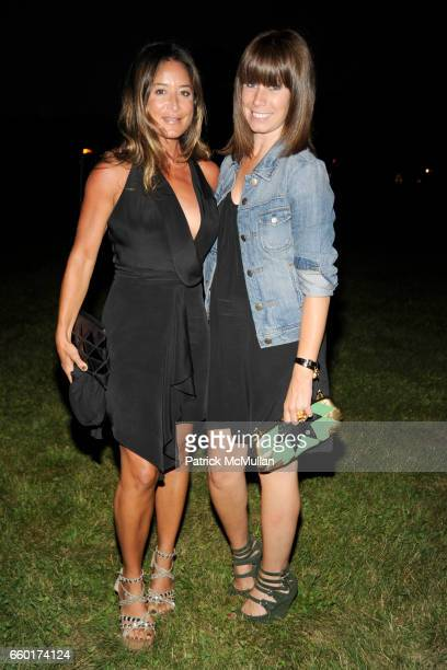 Tracy Taylor and Emma Paton attend ACRIA's Annual Cocktails at Sunset Presented by Calvin Klein Collection Vanity Fair at Private Residence on July...