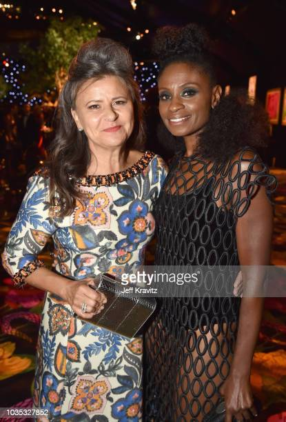 Tracy Ullman and Adina Porter attend HBO's Official 2018 Emmy After Party on September 17 2018 in Los Angeles California