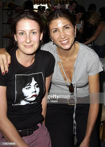 Tracy Wass and Nathalie Marciano during The Cabana Beauty Buffet Day 2 at The Chateau Marmont in Los Angeles California United States