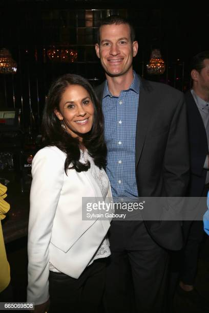Tracy Wolfson and David Reichel attend 10th Anniversary of Celebrate Spring to Benefit the Parkinson's Foundation at Lavo on April 5 2017 in New York...