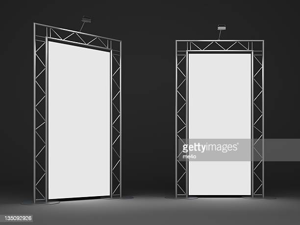 trade advertising stand - kiosk stock pictures, royalty-free photos & images