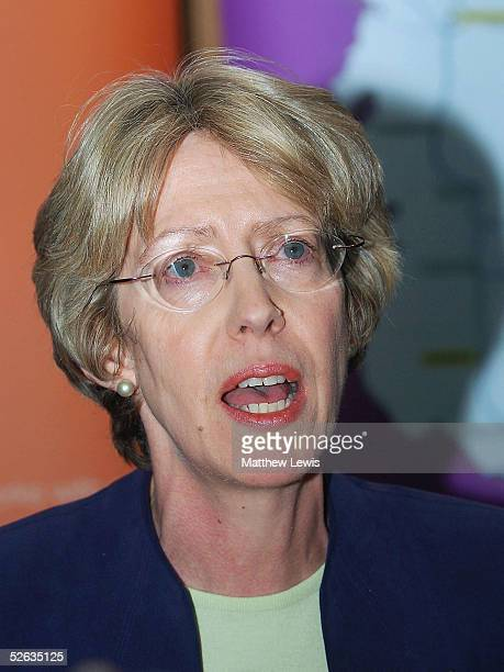 Trade and Industry Secretary Patricia Hewitt holds a press conference after a last-ditch rescue deal to save MG Rover failed, April 15, 2005 in...