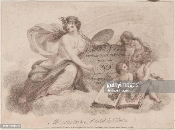 Trade Card for Castildine & Dunn, Copper Plate Engravers, 1796. Artist Anon.