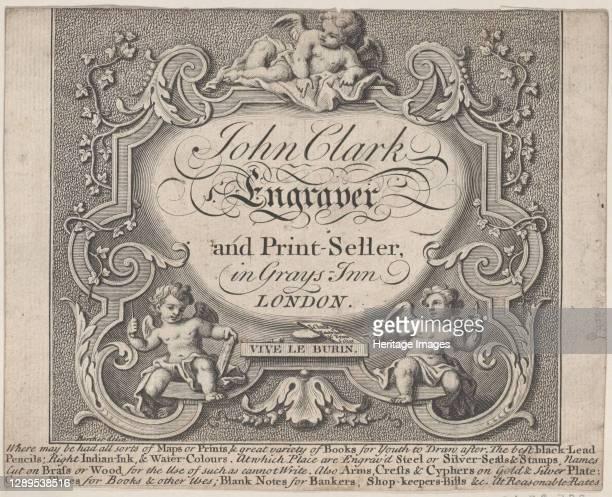 Trade Card for John Clark, Engraver & Printseller, 18th century. Artist Anon.