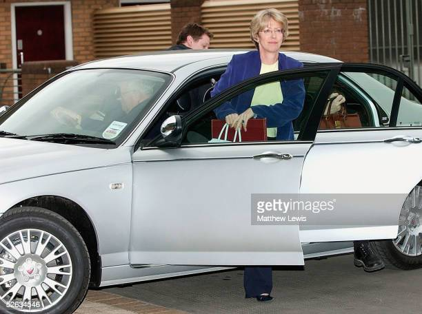 Trade & Industry Secretary Patricia Hewitt arrives for emergency talks after a last-ditch rescue deal to save MG Rover failed, April 15, 2005 in...