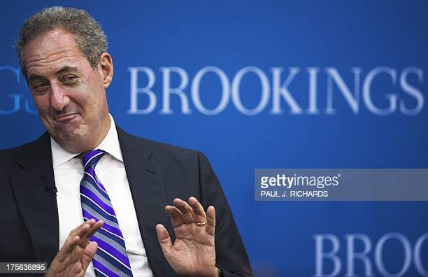 Trade Representative Michael Froman delivers remarks on the future of the African Growth and Opportunity Act August 5 at the Brookings Institute in...