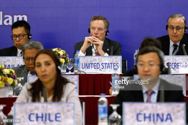 US Trade Representative Robert Lighthizer attends a press conference during the AsiaPacific Economic Cooperation 23rd Ministers responsible for Trade...