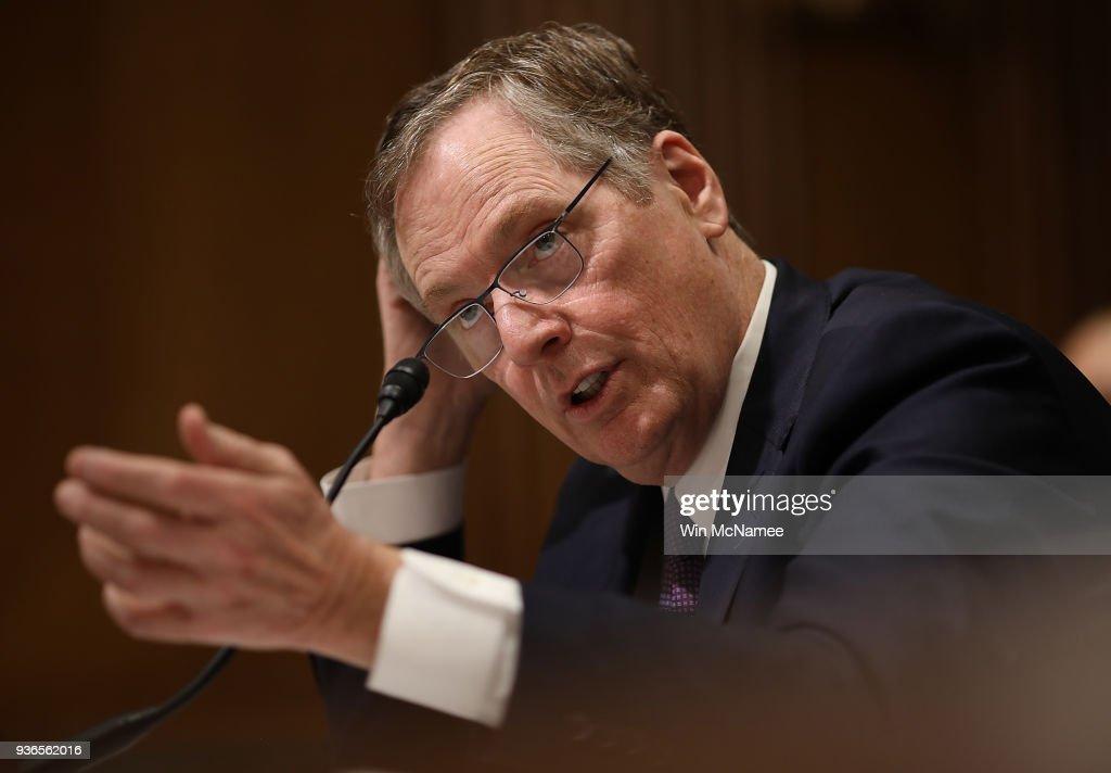 U.S. Trade Representative Robert Lighthizer Testifies To Senate Finance Committee On Trump's Trade Policy