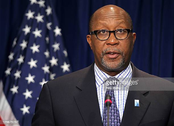 S Trade Representative Ron Kirk speaks as he announces a trade enforcement action against China September 20 2011 in Washington DC Kirk announced...
