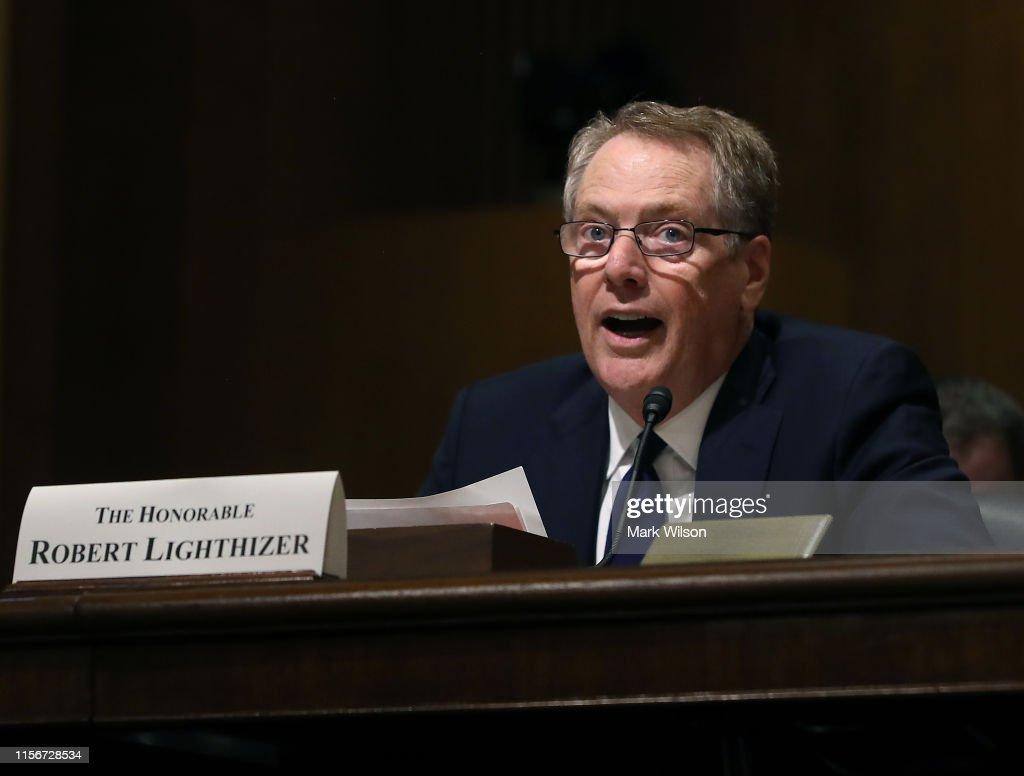 U.S. Trade Representative Robert Lighthizer Testifies Before The Senate Finance Committee On North American Trade : News Photo