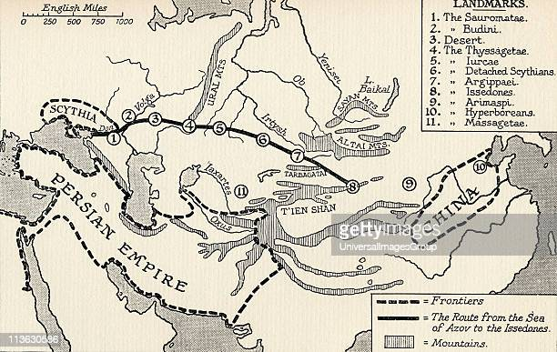 Trade Route across Asia in the time of Herodotus From the book The Quest for Cathay by Sir Percy Sykes published 1936