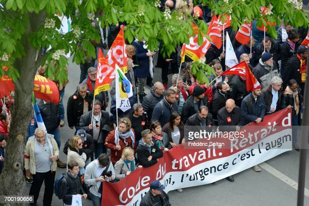 Trade Union demonstration against the working law on June 14 2016 in Paris France
