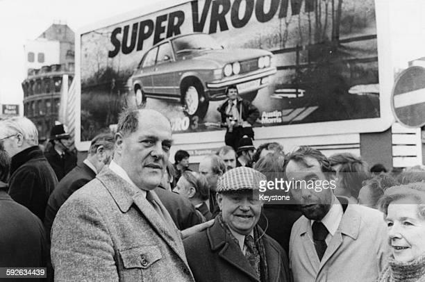 Trade Unionist Derek Robinson Communist former British Leyland shop steward with fellow former shop steward Jack Neill Leslie Huckfield Labour MP for...