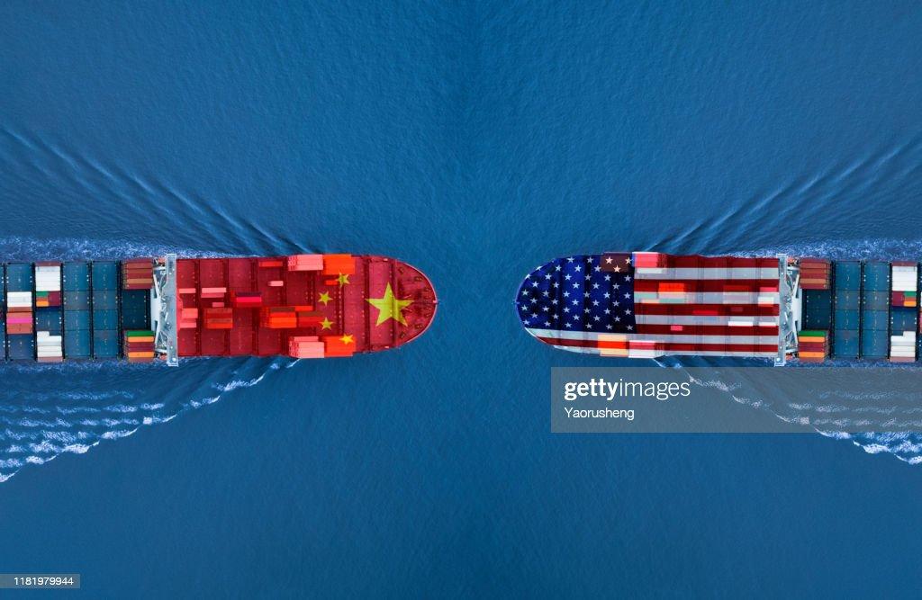 trade war between USA and China : Stock Photo