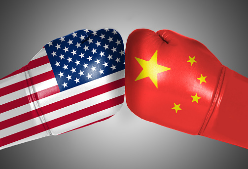 Trade war concept, trade friction between China and the United States 1022166892