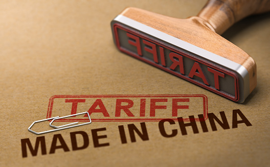 Trade War, Tariff For Goods and Products Made in China 1053431170