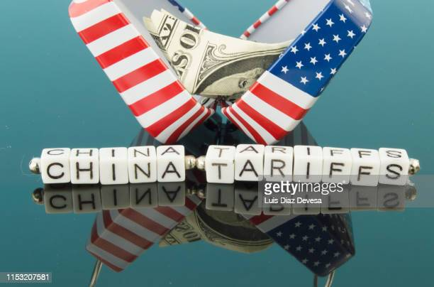 trade wars with u.s  and chinese. china tariffs - china trade war stock pictures, royalty-free photos & images