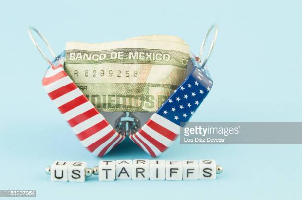 trade wars with us  and mexico. us tariffs - trade war stock pictures, royalty-free photos & images