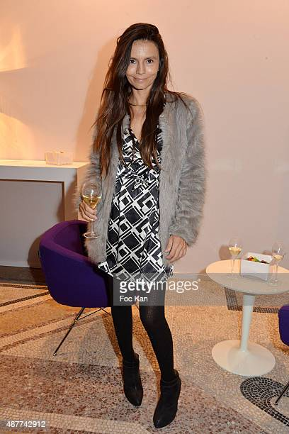Trader Emma Sartini attends the 'Diamond Night by Divinescence Vendome' Harumi Klossowska Jewellery Exhibition Preview As Part Of Art Paris Art Fair...