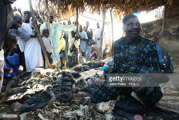 A trader is seen in a market on November 07 2009 in Bauchi Nigeria