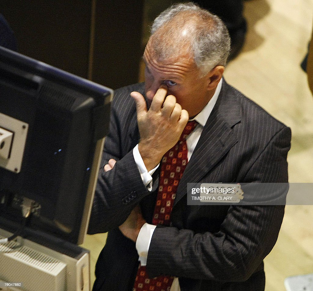 Trader Louis Spina looks at his trading : News Photo